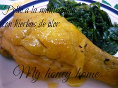 POLLO A LA MANTEQUILLA CON HIERBAS DE OLOR | ~Honey home~