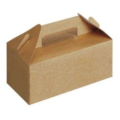 Small BROWN Carrypack / Handled Food Box (125)
