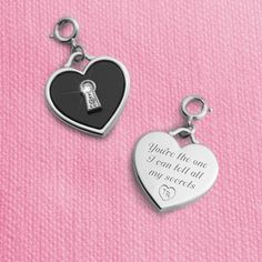 Padlock Onyx Charm: a gorgeous way to show her she's captured your heart!