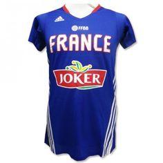 Portez le maillot de basket de l'Equipe de France à manches