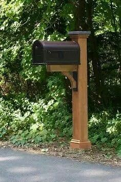 My Curb Appeal Plans: Beautiful Mailboxes, Mailbox Posts, And Mailbox  Landscaping | Copper Mailbox, Mailbox Post And Curb Appeal