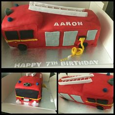 Fire Engine Fire Engine, Suitcase, Cakes, Suitcases, Cake, Fire Truck, Pastries, Torte, Animal Print Cakes