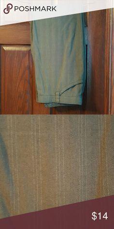 Lee brown slacks Lee comfort waistband stretchy trouser slacks, subtle stripes Lee Pants Trousers