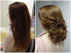 Veronica fick en ny hårfärg och en ny frisyr...