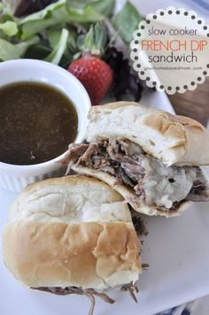 A french dip sandwich is delicious and fun to eat - just dip and eat!