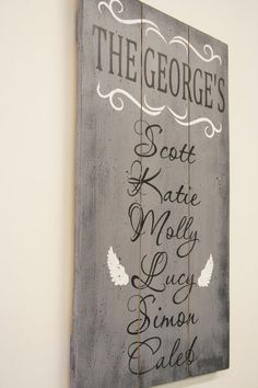 Family Name Sign Personalized Wood Sign Pallet by RusticlyInspired