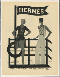 1931 ad for Hermes, by Luza. #hermes #ads #vintage