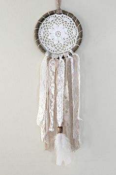 Dreamcatcher Boho Dream Catcher Doily by WhitetailRoad on Etsy