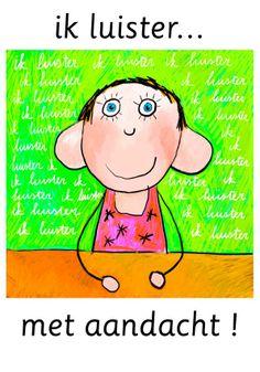 groepsinstructiekaarten zie www.buurrouwtruus.com Classroom Management, Back To School, School Stuff, Montessori, Coaching, Disney Characters, Fictional Characters, Family Guy, Clip Art