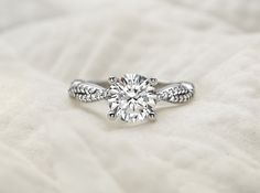 Twisted Vine Diamond Ring
