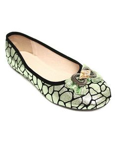 Take a look at this Green Pebble Bow Flat by Odell on #zulily today!