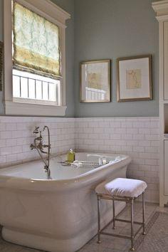 Tiled Wall Nice Trim Half Bathroom Wall With Subway Tiles