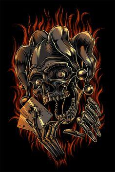 The Jester Skull on Behance