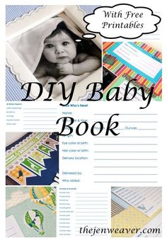 DIY Baby Book with Free Printables. Want a custom baby book without spending the cash? Use these free templates to make it at home! thejenweaver.com