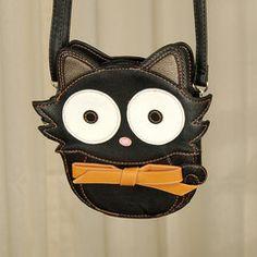 Bow Black Cat Crossbody Bag