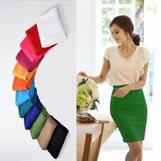 235f01a3a1f0 2017 Women Pencil Skirt Plus Size Slim Hips, Slim Waist, Office Skirt,  Clothes