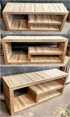 is an up-cycling TV stand idea of wood pallet as perfect to add upon in you., This is an up-cycling TV stand idea of wood pallet as perfect to add upon in you., This is an up-cycling TV stand idea of wood pallet as perfect to add upon in you. Pallet Furniture Tv Stand, Pallet Furniture Designs, Wooden Pallet Projects, Woodworking Projects Diy, Wooden Pallets, Pallet Ideas, Pallet Tv Stands, Woodworking Plans, Pallet Crates