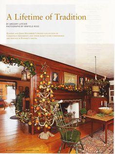 From Early American Life magazine Christmas Interiors, Christmas Room, Prim Christmas, Simple Christmas, Christmas 2014, Christmas Pictures, Williamsburg Christmas, Colonial Williamsburg, Primitive Country Christmas