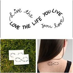 Infinity - temporary tattoo (Set of 2) by None, via Polyvore #believe.. is #just  an #instant  #tatoo now on my #fashionblog  www.robyzlfashionblog.com #sephora @Sephora #body #look