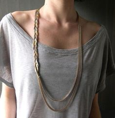 braided tee necklace