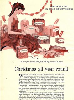 Christmas all year round Womans Day 1956