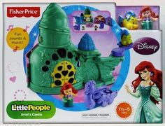 NEW 2013 FISHER PRICE LITTLE PEOPLE DISNEY LITTLE MERMAID ARIEL'S CASTLE PLAYSET