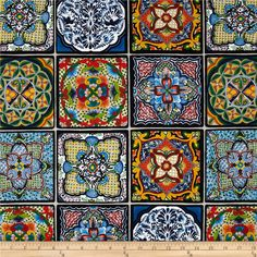 From Elizabeth's Studio, this cotton print is perfect for quilting, apparel and home decor accents. Colors include black, white, blue, yellow, red, green, orange and pink.