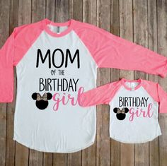 Mommy and me birthday girl- minnie version minnie mouse birthday party matching minnie minnie theme birthday minnie birthday shirt by JADEandPAIIG Minnie Mouse First Birthday, 1st Birthday Party For Girls, Minnie Mouse Theme, Girl Birthday Themes, 3rd Birthday, Mickey Birthday, Husband Birthday, Birthday Wishes, Birthday Parties