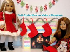 American Girl doll fireplace!