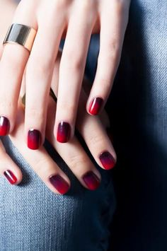Ombré fall nails