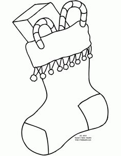 Christmas Stocking Coloring Pages Kids | Coloring Pages | Pinterest ...
