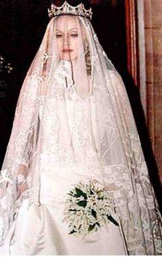 """madonnascrapbook: """" Madonna on her wedding day to Guy Ritchie. """"madonnascrapbook: """" Madonna on her wedding day to Guy Ritchie. Celebrity Wedding Photos, Celebrity Wedding Dresses, Celebrity Weddings, Famous Wedding Dresses, Wedding Gowns, Bridal Dresses, Star Wedding, Wedding Day, Rustic Wedding"""