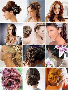 Escolha o seu penteado para casamento! #Penteados para #Noivas