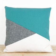 Asymmetric colours cushion. Easy to do but looks amazing, bold block colours