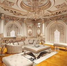 Exquisite Living Room Interior Design with Meticulous Attention to Detail from the Ceiling to the Wooden Flooring