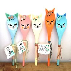 painted wooden spoons - Google 검색