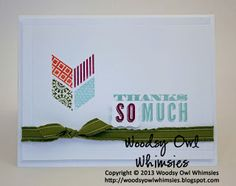 Woodsy Owl Whimsies Thanks SO Much using Oh, Hello Stamp Set