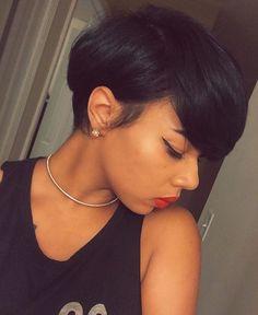 Simple yet chic cut on @xoxojenise by @lynettethehairslayer ❤️✂️ #shorthair…