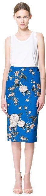 #Zara                     #Skirt                    #PRINTED #PENCIL #SKIRT #Skirts #Woman #ZARA #United #States                  PRINTED PENCIL SKIRT - Skirts - Woman - ZARA United States                                              http://www.seapai.com/product.aspx?PID=1262153