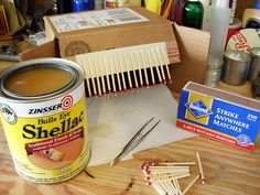 Use Shellac to keep your matches waterproof, just in case.