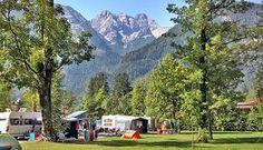 Campingplatz Park Grubhof vor traumhafter Bergkulisse