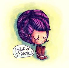 Botitas Nuevas - Cartoon Illustrations by Anita Mejia  <3 <3