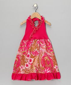 Take a look at this Hot Pink Wildflower Halter Dress - Toddler & Girls    by Ruby and Rosie on #zulily today!