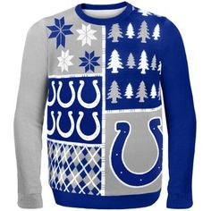 Indianapolis Colts Royal Blue Busy Block Ugly Sweater 2ad6ccce4