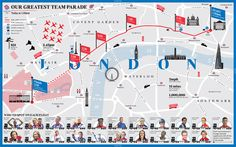 London 2012 - Our Greatest Team Parade - Map