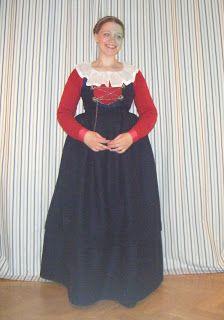 Vintage retro Levins modeller röd klänning siden satin 50