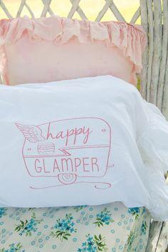 happy glamper ruffle sham // Junk GYpSy co.