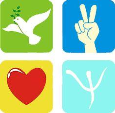 Esperança, paz, amor e psicologia!