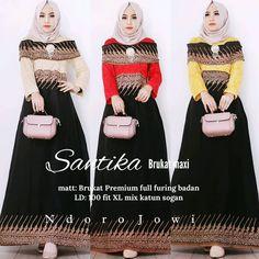 62 Model Gamis Batik Terbaru Populer 2020 – CuanLagi.Com Model Kebaya, Kebaya Muslim, H 1, Happy Shopping, Peplum Dress, Fitness, Instagram Posts, Dresses, Fashion