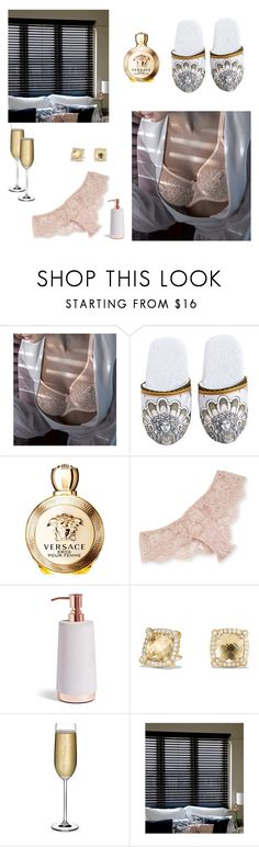 """Staying Home"" by saghaanath on Polyvore featuring mode, PrimaDonna, Versace, I.D. SARRIERI, David Yurman en Nude"